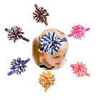 Baby Girl Headbands Striped Flower Hair Accessories for Party Weddings FO UK O