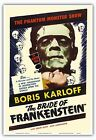 The Bride of Frankenstein Boris Karloff Vintage Movie Art Poster Print