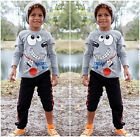 New Baby Boys Kids Clothes Cartoon Tops Coat Sport Pants 2pcs Outfits Set 2~7Y