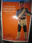BARBARIAN DESTROYER HALLOWEEN COSTUME BOYS VARIES SIZES NWT