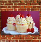 CUP CAKES COOL KITCHEN CANVAS WALL ART BOX PRINT PICTURE SMALL/MEDIUM/LARGE