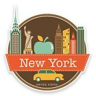 2 x New York USA Vinyl Stickers Laptop Travel Gift Luggage Car Suitcase #9208