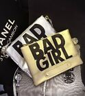 Girl's Fashion Letters Printed Bad Girl Handbag Faux Leather Bags Messenger Bag