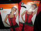 WOMENS RED CORSET COSTUME NWT SMALL/ MEDIUM & LARGE / EX LARGE