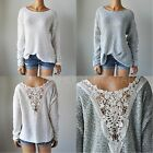 NWT HOLLISTER HCO WOMENS Hidden Hills Lace Back Easy-Fit Sweater XS/S M/L