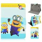 "Cartoon Minions Flip Stand PU Leather Cover Case For Universal 7"" 8"" 10"" Tablet"