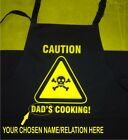 Adults Personalised CAUTION Apron Add Name/Relation Funny Gift Chef/Cook