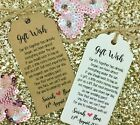 Wedding Gift Wish Money Request Poem Card Favour Gift Tag, Personalised