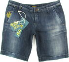 "KILLAH ""Rag Flake"" womens hot pants shorts bermudas vintage Denim (navy) NEW"