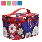 1 PCS Cosmetic Bag Square Sunflower Pattern Makeup Bags Faux Leather Storage Bag