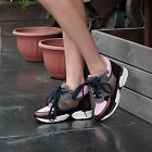 NEW Fashion genuine leather mesh surface ventilate lace-up women sports shoes
