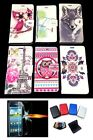 Mobile Phone Flip Pouch Cover Case / Tempered Glass / Credit Card Wallet FREE
