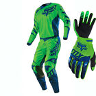 2016 Fox MX Youth Gearset - 180 Race Flo Green Kit Motocross Peewee Offroad