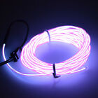 Neon Light Glow EL Wire Rope Tube Car Bar Dance Party Transparent + Controller