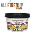 Vitcas Black High Temperature Fire Cement For Wood Burning Multifuel Stoves
