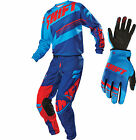 2016 Shift MX Mens Assault Gearset - Blue / Red Motocross Kit Offroad Trail