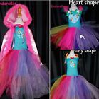 Rainbow dash My little pony (Inspired) dress costume Hooded cape ages 2-12