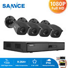SANNCE 8CH Outdoor 900TVL CCTV Camera Home Surveillance Security System 960H DVR