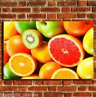 COLOURFUL FRUIT KITCHEN CANVAS WALL ART BOX PRINT PICTURE SMALL/MEDIUM/LARGE