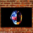 DAFT PUNK DANCE MUSIC COOL CANVAS WALL ART BOX PRINT PICTURE SMALL/MEDIUM/LARGE