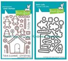 Lawn Fawn Clear Stamps, Dies Trim Tree, Frosty Friends, Sweet Cozy Christmas
