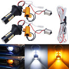 No Hyper Flash 1156 S25 Switchback LED Bulbs for Front Turn Signal Lights w/ DRL
