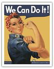 We Can Do It Rosie the Riveter Vintage War Art Poster Print Giclee