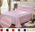 19 Momme 100% Pure Silk  Fitted & Flat Sheet Pillowcase Set Size Full