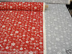 PRESTIGIOUS TEXTILES SNOWFLAKES CHRISTMAS FABRIC RED GREY CUSHIONS CRAFT NOVELTY