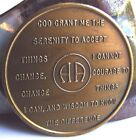 Rare Alcoholics Anonymous Vintage 4 Year AA Back Medallion Chip Coin Token AG