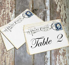 LARGE DOUBLE or SINGLE SIDED VINTAGE POSTCARD WEDDING TABLE CARDS or SIGN #367