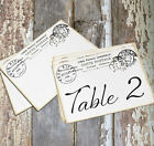 DOUBLE or SINGLE SIDED FRENCH POSTMARK POSTCARD WEDDING TABLE CARDS or SIGN #615