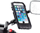 Moped Scooter Mirror V2 8-10mm Mount + Waterproof Case for Apple iPhone 6 Plus