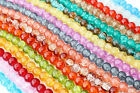Crackle Glass Beads  8mm 105pcs  Choice of Colours Jewellery Crafts