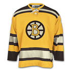 Boston Bruins Mens CCM Vintage Collection Airknit Gold Hockey Jersey MLXL2XL
