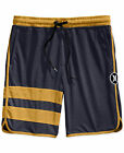 ~NEW~ MENS HURLEY block party ATHLETIC MESH SHORTS w/nike dri-fit NAVY & GOLD