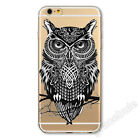 Cute Owl Printed Design Soft Thin TPU Case Cover For Apple iPhone 4S/5S/5C/6Plus