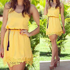 New Womens Party Dress Summer Bandage Dresses Casual Lace Bodycon Dress UK2 FO