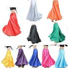 Xmas Gift  Belly Dance Costumes Skirt Shining Satin Long Skirt Swing Skirt