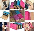 New Fashion 6 Colors Womens PU Leather Clutch Purse Nice Hot Long Handbag Wallet