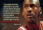 Michael Jordan Poster Print Quote Picture Wall Art Canvas Life Gift - All Sizes