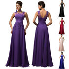 2016 PINK Chiffom Applique Sexy Women Long Bridesmaid Evening Cocktail Prom Dres