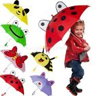 3D Ear Cartoon Animal Kids Children's Hook Handle Umbrella Rain Brolly Whistle