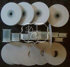 "12 1/4"" or 3/8"" Empty Ribbon Spools Plastic With or W/O Flanges Crafts Bobbins"