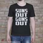 Suns Out Guns Out Gym Shirt. Body Building Mens Muscle Fitness Training T Shirt