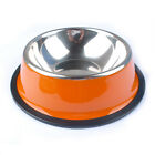 Stainless Steel Anti-Skid Standard Pet Dog Puppy Cat Food Drink Water Bowl Dish
