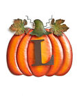 MONOGRAM PERSONALIZED Initial PUMPKIN STAKE Halloween Prop Fall Harvest Autumn