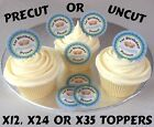 Boys 1st Birthday Prince Precut Rice Wafer Paper Cupcake Toppers 12 24 Or 35