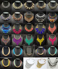 Crystal handwoven beads Bib Statement Collar Choker Charm Chain Necklace Jewelry