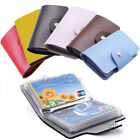 6 Color PU Leather Pocket Business ID Credit Card Holder Case Wallet For 24 Card